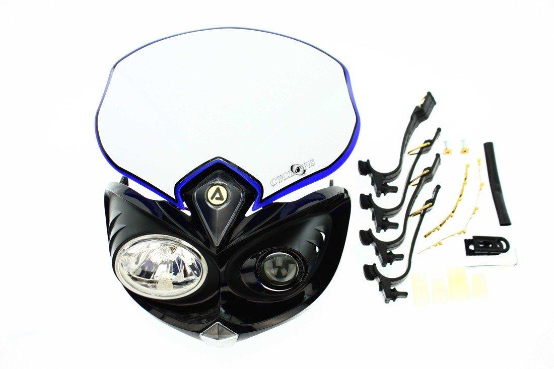 acerbis scheinwefer cyclope headlamp motorbike motorrad enduro streetfighter t v blau off road. Black Bedroom Furniture Sets. Home Design Ideas
