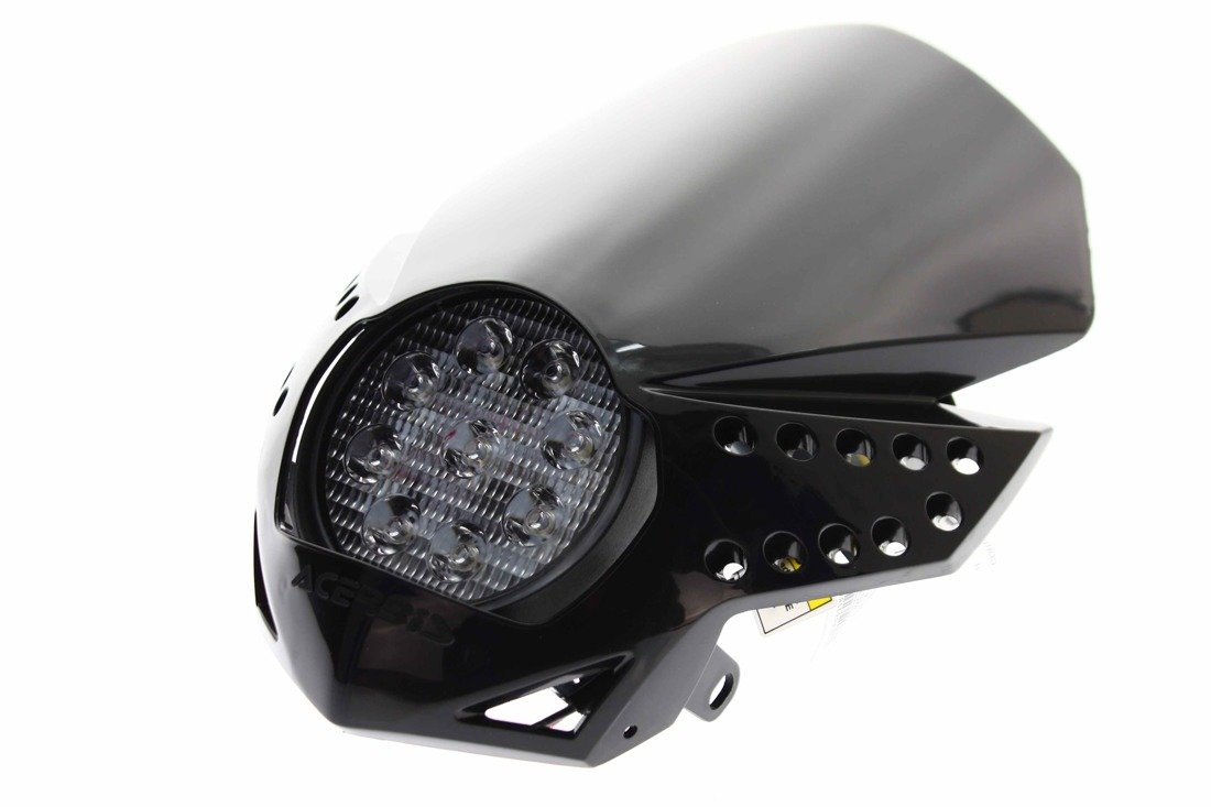 acerbis motorrad scheinwerfer led 2430 lm 50000h fulmine headlight enduro schwarz. Black Bedroom Furniture Sets. Home Design Ideas
