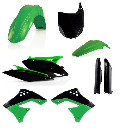 Kawasaki Plastik Kit Satz FULL Komplett KXF 250 2009-2012 Acerbis Made in Italy